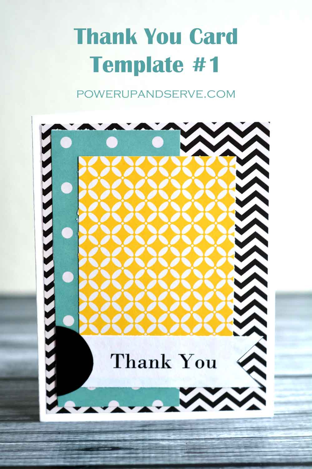 thank you card template 1 power up and serve. Black Bedroom Furniture Sets. Home Design Ideas